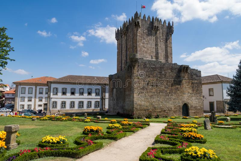 Castle of Chaves. The Castle of Chaves is a medieval castle situated in the civil parish of Santa Maria Maior, in the municipality of Chaves, district of Vila stock images