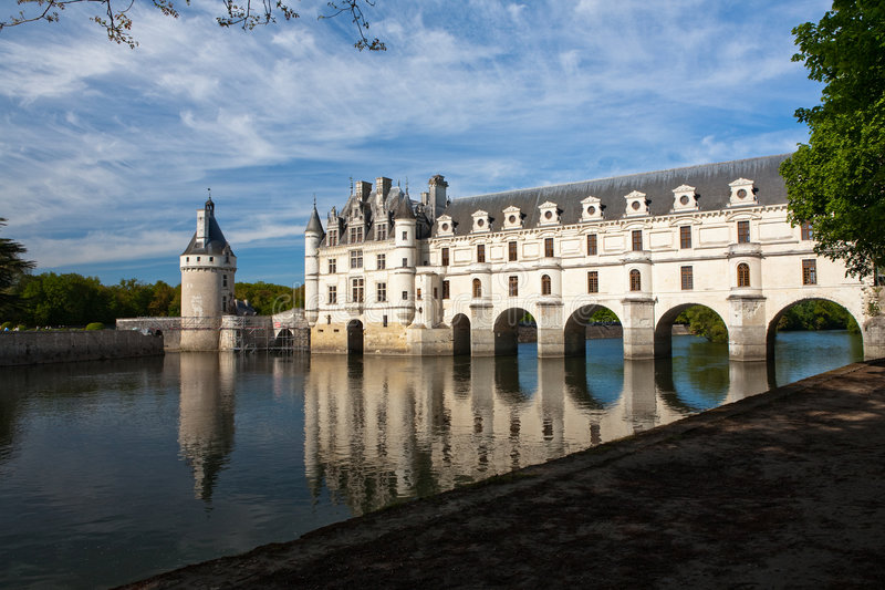 Castle of Chenonceaux royalty free stock image