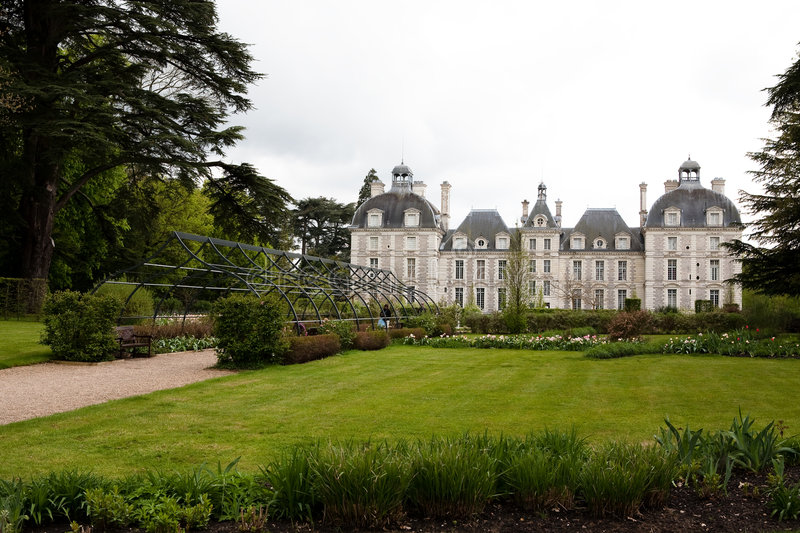 Castle of Cheverny stock photography