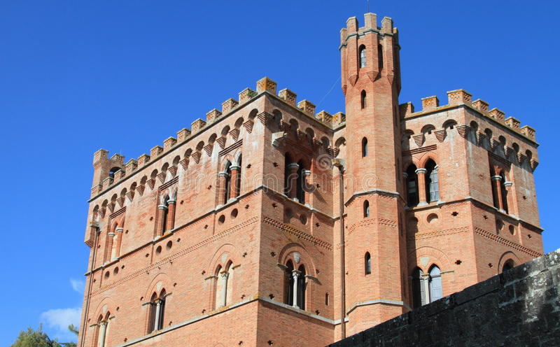 Castle of Chianti, Italy. Medieval castle in Chianti, Italy royalty free stock photo