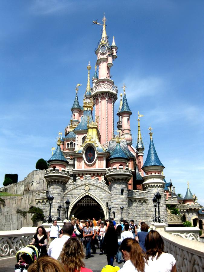 Castle of Cinderella royalty free stock image