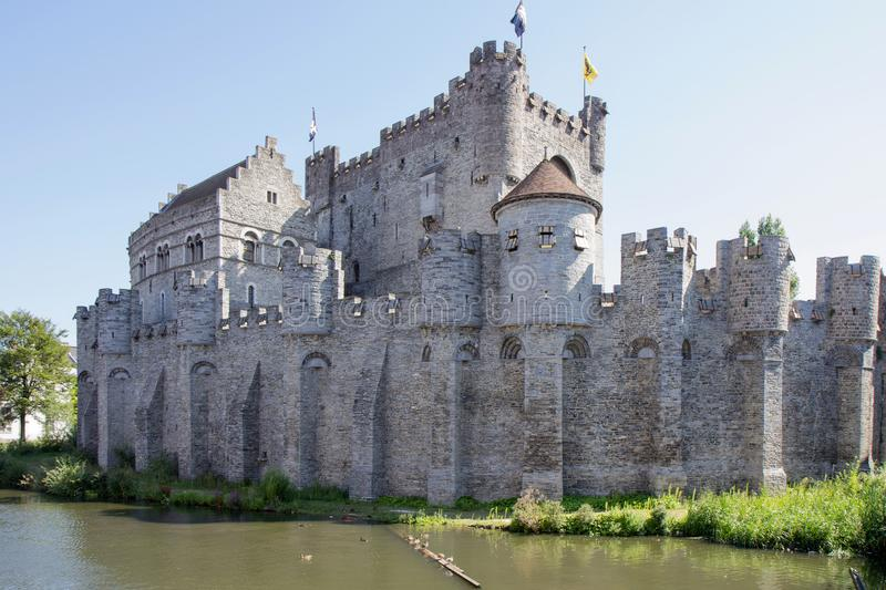 A castle in the city Gent in Belgium. This very big castle can you in the place Gent in Belgium royalty free stock photo
