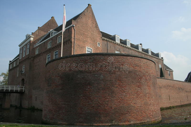 Castle. The castle of the city Woerden, located in The Netherlands royalty free stock images
