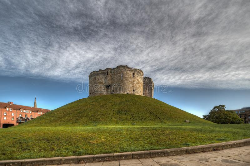 Castle of The city of York in United Kingdom - England.  stock photo