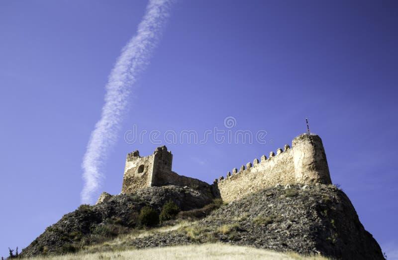 Castle of clavijo. Clavijo Castle stone architecture and historical construction stock photo