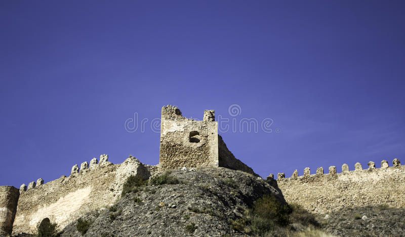 Castle of clavijo. Clavijo Castle stone architecture and historical construction stock images