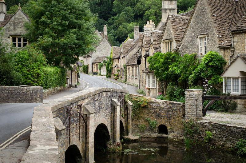 Castle Combe, Cotswolds village stock photography