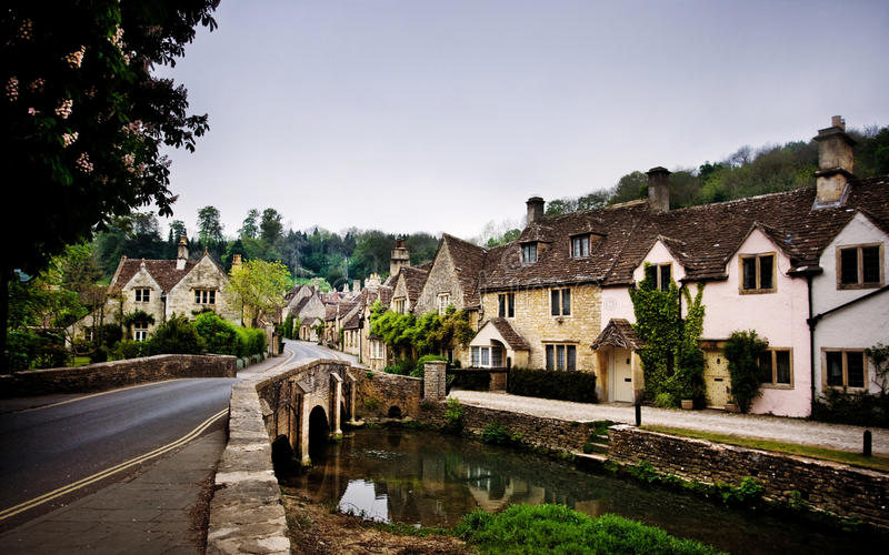 Castle Combe, England. Royalty Free Stock Images