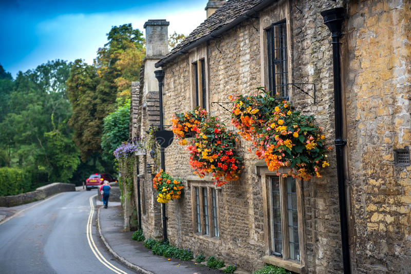 Download Castle Combe, England stock photo. Image of river, english - 57182032