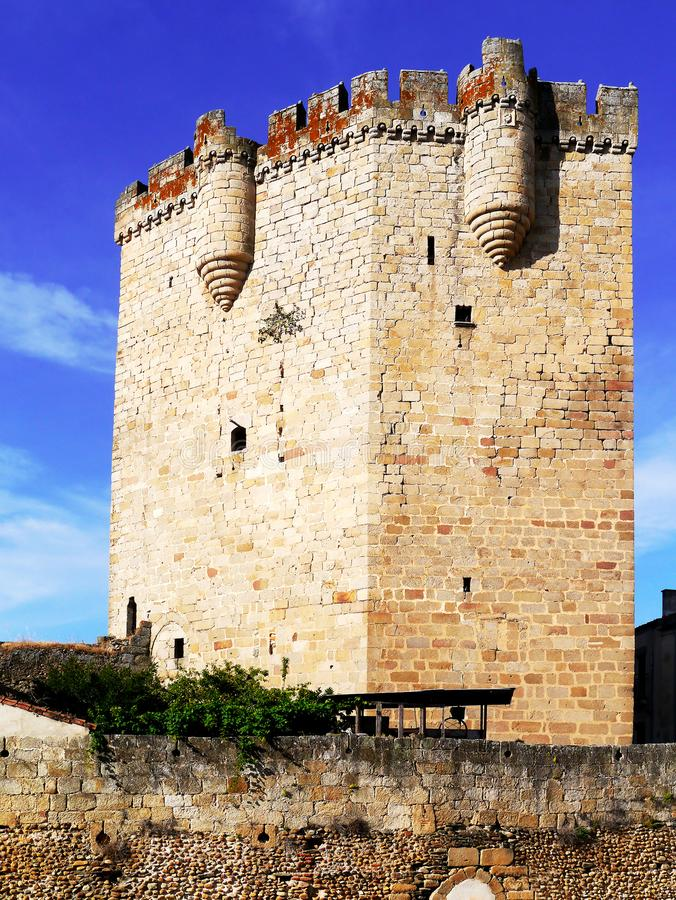 Castle of Coria, Extremadura, Spain. Europe royalty free stock photo