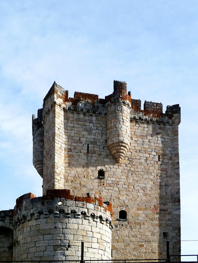 Castle of Coria, Extremadura, Spain. Europe royalty free stock image