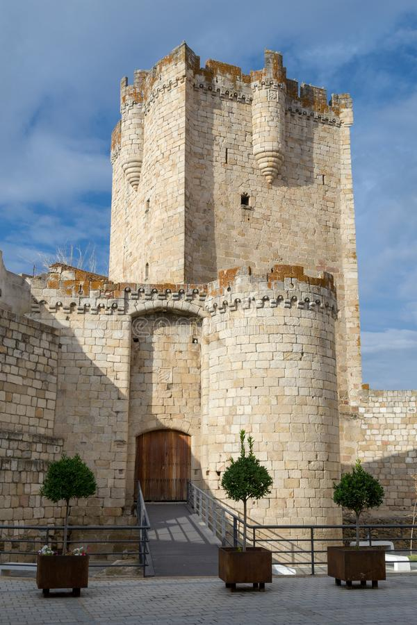 The castle of Coria (Spain. Castle of Coria (Spain) built in the XV century royalty free stock photography