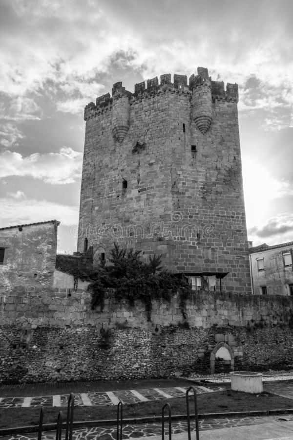 The castle of Coria (Spain. Castle of Coria (Spain) built in the XV century stock images