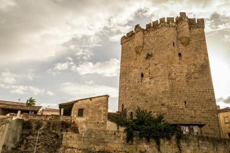 The castle of Coria (Spain. Castle of Coria (Spain) built in the XV century stock photo