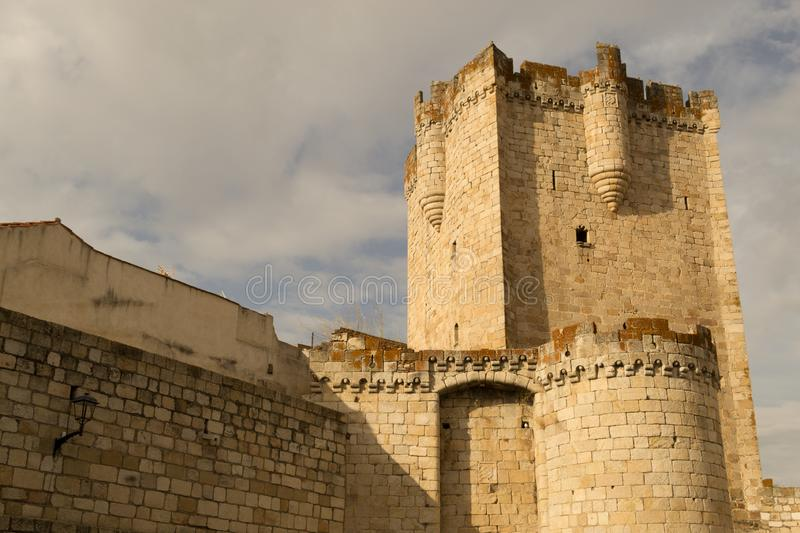 The castle of Coria (Spain. Castle of Coria (Spain) built in the XV century stock image
