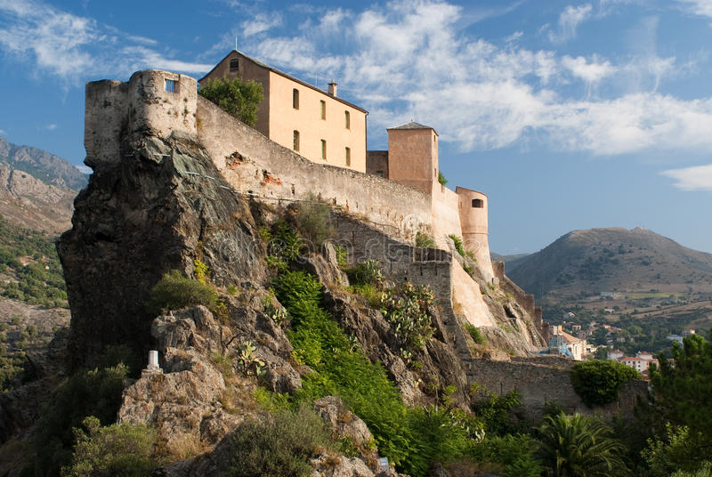 Castle of Corte, Corse stock photo