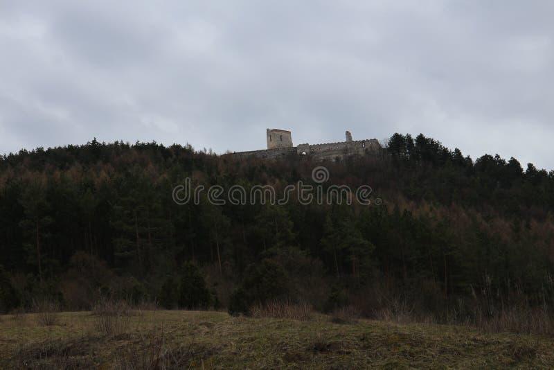 Castle of Countess Elisabeth Báthory, Čachtice stock photography