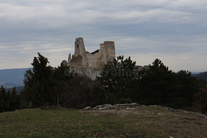 Castle of Countess Elisabeth Báthory, Čachtice stock image