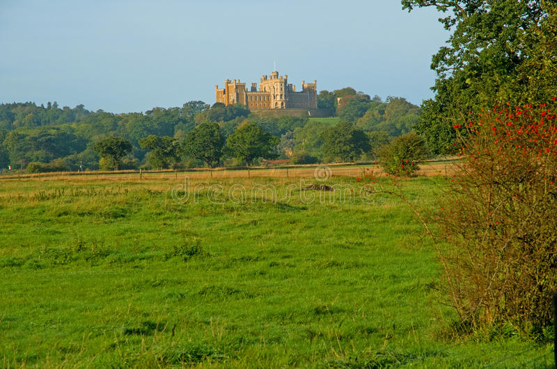 Castle and countryside. Belvoir castle and countryside in the vale of belvoir in england royalty free stock images