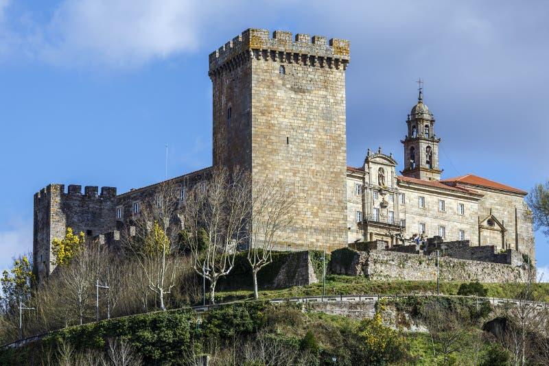 Castle of the Counts of lemos in Monforte de Lemos stock images
