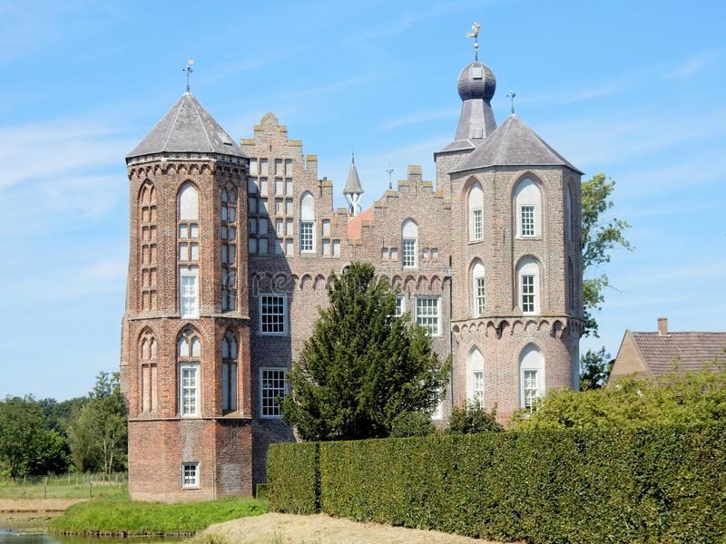Castle Croy, Mansion, Aarle-Rixtel, Laarbeek, Netherland. Castle Croy, monumental Mansion with towers , Aarle-Rixtel, Laarbeek, Noord-Brabant, Netherlands royalty free stock image