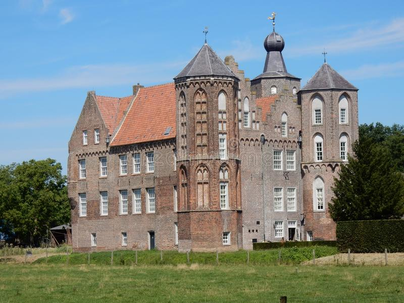 Castle Croy, Mansion, Aarle-Rixtel, Laarbeek, Netherland. Castle Croy, monumental Mansion with towers , Aarle-Rixtel, Laarbeek, Noord-Brabant, Netherlands stock photos
