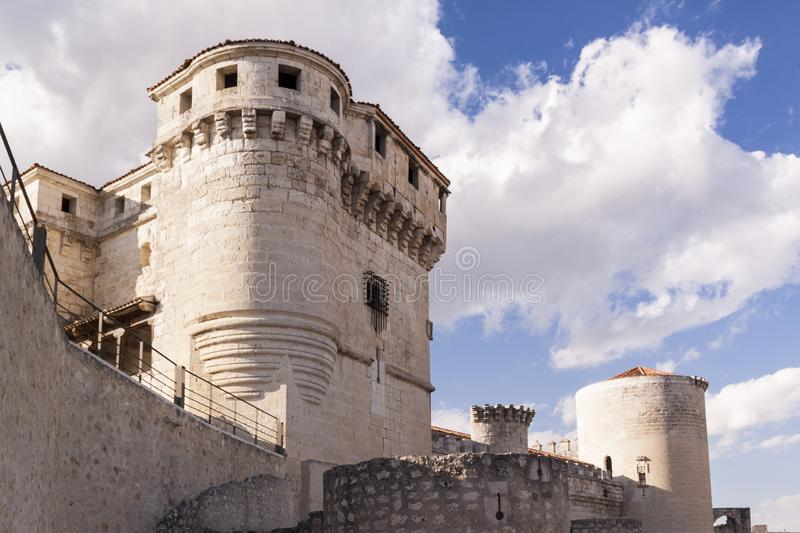 Castle of Cuellar in Segovia. Medieval fortress royalty free stock photo