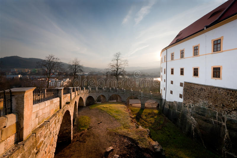 Castle Děčín stock photos