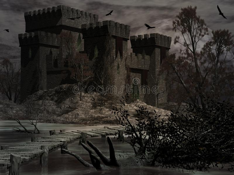 Castle of The Damned royalty free illustration