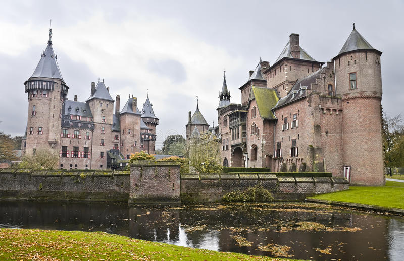 Castle De Haar in den Niederlanden stockfoto