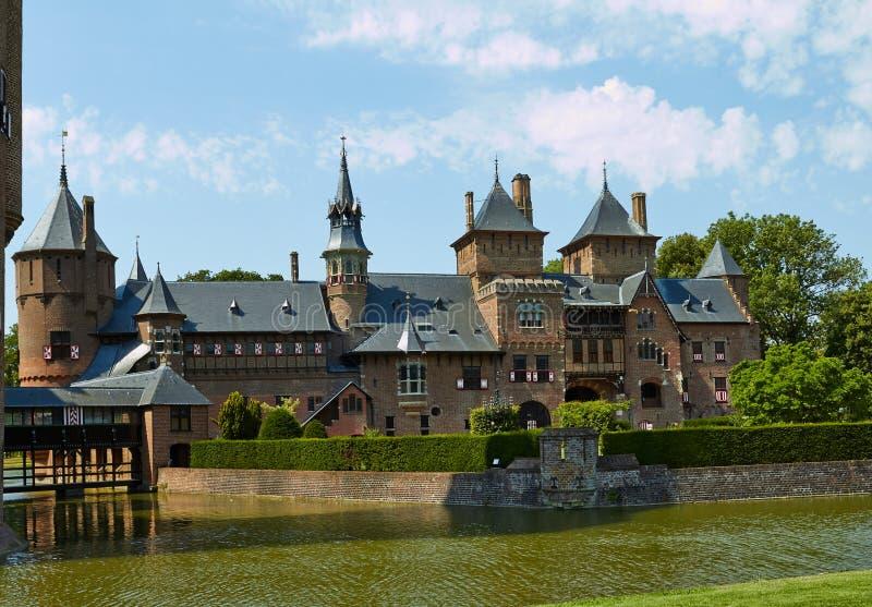 Castle De Haar ist, in der Provinz von Utrecht stockfotografie