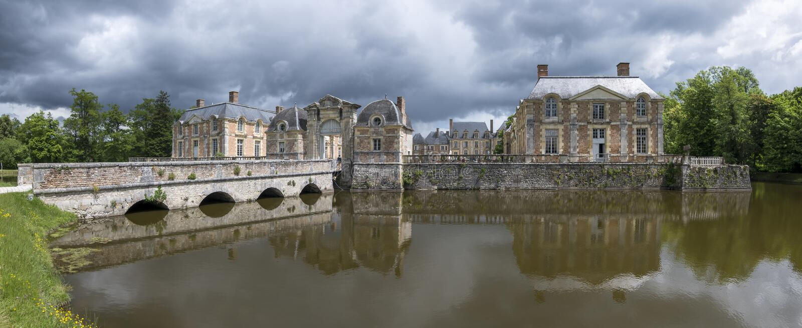 Castle of of de la Ferte Saint-Aubin royalty free stock photography