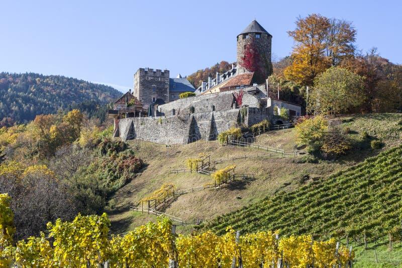 Castle Deutschlandsberg on western Styria vine route. In Austria stock photo
