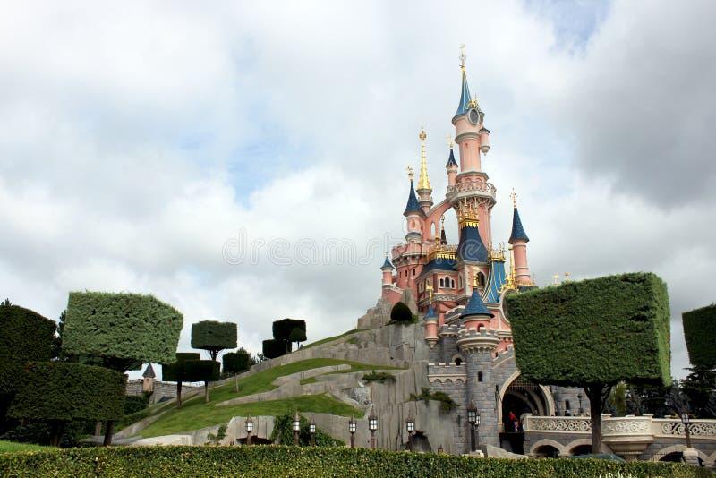 Castle in Disneyland near Paris stock image