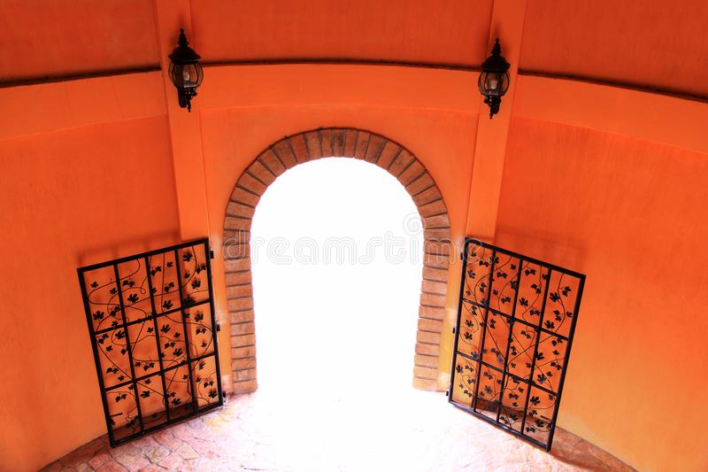 Castle door. In The Verona at Tublan, Thailand royalty free stock images