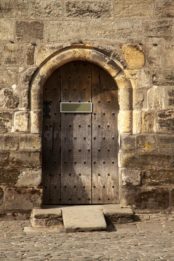 Castle door to personalize stock photography