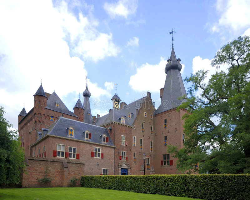The castle of Doorwerth stock photography