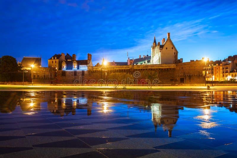 Castle Dukes of Brittany, Nantes royalty free stock photo