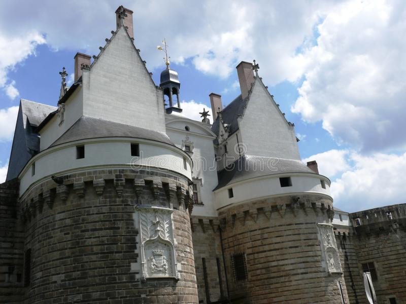 Castle of the Dukes of Brittany in Nantes royalty free stock images
