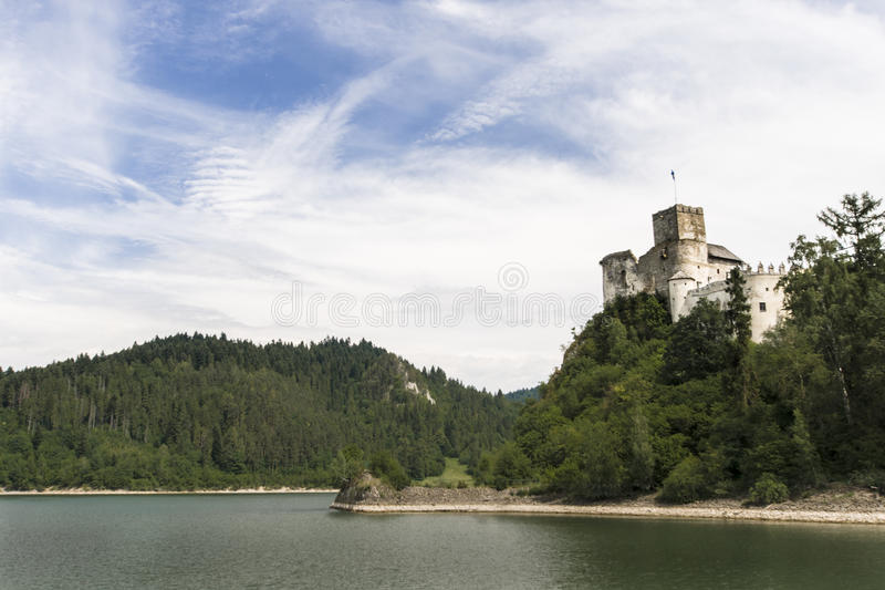 Castle. Dunajec in Niedzica, Poland royalty free stock images