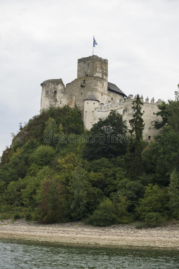 Castle on a Dunajec River stock photos