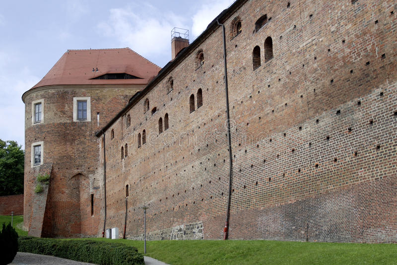 Castle Eisenhardt in Bad Belzig - Germany. Wall of the castle Eisenhardt in Bad Belzig in Brandenburg stock photo