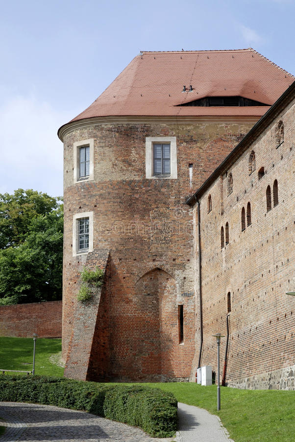 Castle Eisenhardt in Bad Belzig - Germany. Wall of the castle Eisenhardt in Bad Belzig in Brandenburg stock image