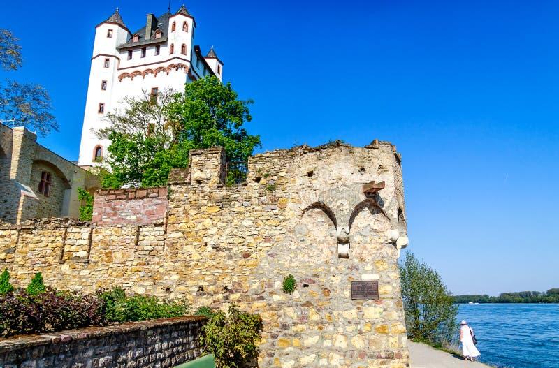 Castle Eltville στο Ρήνο, Rheingau, Hesse, Γερμανία στοκ φωτογραφίες