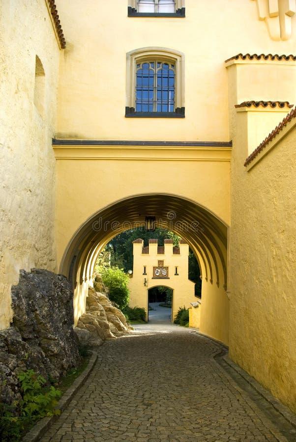 Castle entrance stock image