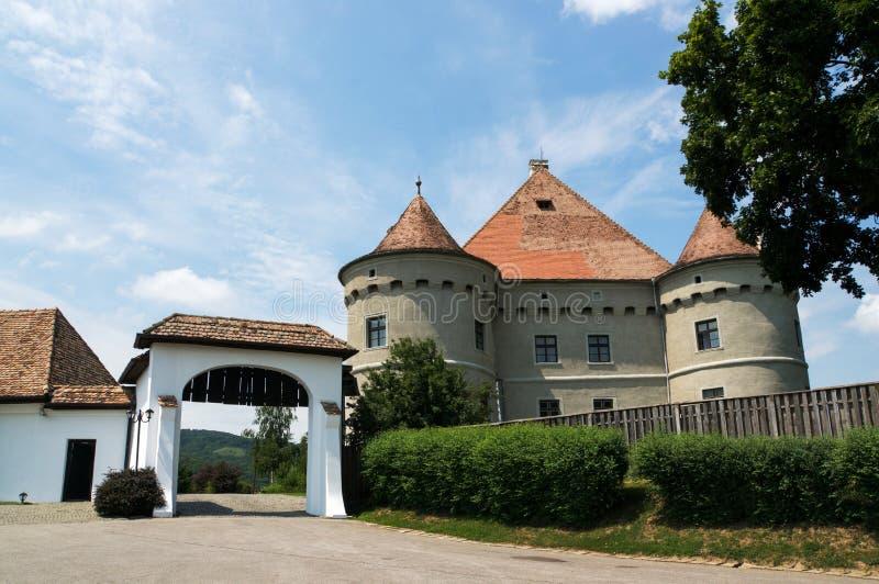 Castle Fortress Baltic Jidvei royalty free stock image