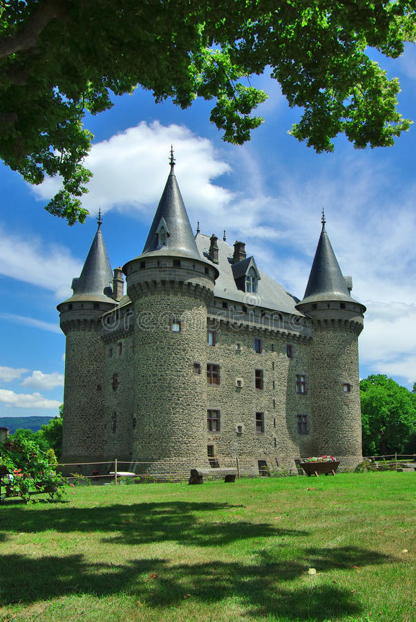 Castle, France. On the photo:Castle, France royalty free stock photo