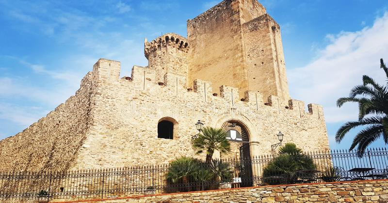 Castle. Fron South italy on the Beach stock images