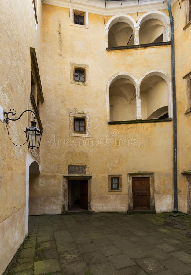 Castle Frydlant. The courtyard of the castle Frydlant in the Czech Republic, Europe royalty free stock photos