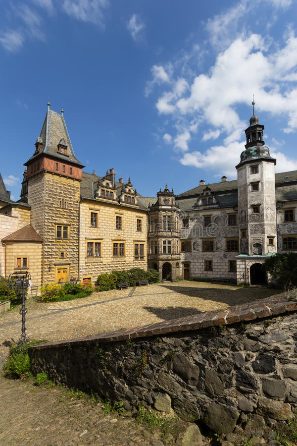 Castle Frydlant. The courtyard of the castle Frydlant in the Czech Republic, Europe stock photo